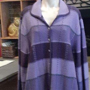 Karen Scott pure wool button up  cardigan